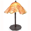Pictured is our Contemporary style wrought iron Preston Table Lamp with Large Glass Shade hand-made by Mathews & Co.