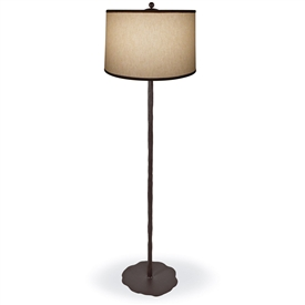 Pictured is our Contemporary style wrought iron Preston Floor Lamp hand-made by Mathews & Co.