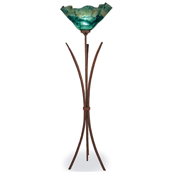 Pictured is our Contemporary style Salisbury Torchiere Lamp hand-made by Mathews & Co.