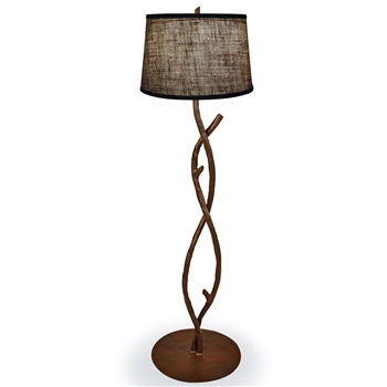 Pictured is our Rustic style wrought iron South Fork Branch Floor Lamp hand-made by Mathews & Co.