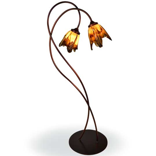 Wrought iron twisted wild vine floor lamp with glass shade price 52640 aloadofball Choice Image