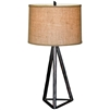 Pictured is our wrought iron Tripod Table Lamp hand-forged by Mathews and Company.