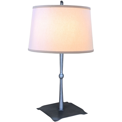 Pictured is our wrought iron Cottonwood Table Lamp hand-forged by Mathews and Company.