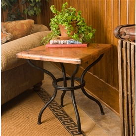 Pictured here is the Woodland End Table Base Only hand crafted by skilled artisan blacksmiths from Mathews and company.