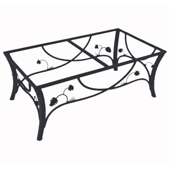 Pictured here is the Piney Woods Cocktail Table Base Only hand crafted by skilled artisan blacksmiths from Mathews and company.