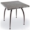 "Pictured here is the Pinnacle End Table with 24"" x 24"" Top hand crafted by skilled artisan blacksmiths."