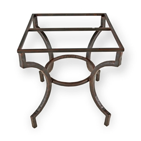 Pictured here is the Corinthian End Table Base Only hand crafted by skilled artisan blacksmiths from Mathews and company.