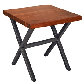 "X Brace End Table with 24x24"" Top"
