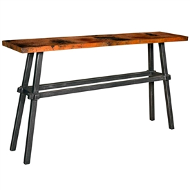Pictured here is the Tower Console Table with 60x14 top by Mathews & Co.