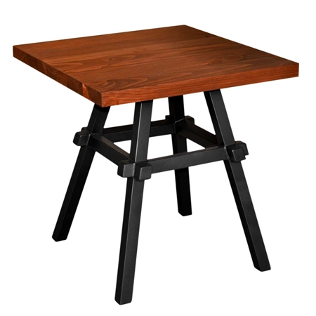 "Pictured here is the Tower End Table with 24"" square cherry top by Mathews & Co."