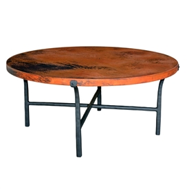 "Pictured here is the Cameron Coffee Table with 42"" Top by Mathews & Co."