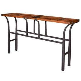 Pictured here is the Cameron Console Table with Copper Top by Mathews & Co.