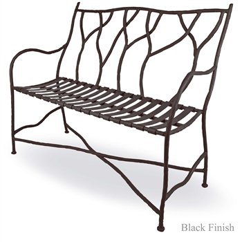 Pictured is our Outdoor South Fork Bench , hand-forged by artisan blacksmiths.