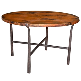 "Pictured here is the Cameron Dining Table with 48"" Top by Mathews & Co."