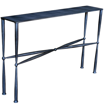 Pictured here is the Cottonwood Small Console with Metal Top by Mathews & Co.