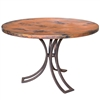 Pictured here is the Bainbridge Dining Table with 48in Top sold at Timeless Wrought Iron