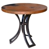 Pictured here is the Bainbridge End Table with Hammered Copper Top by Mathews & Co.