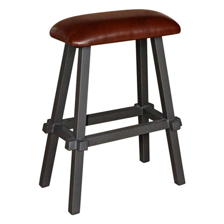 Pictured here is the Tower 30in Bar Stool with Leather Seat by Mathews & Co.
