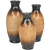 Pictured here is the Flower Ceramic Bottles Set of 3 from Mathews and Company