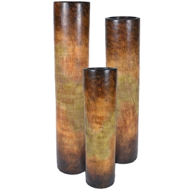 Pictured here is the Large Ceramic Cylinders Set of 3 from Mathews and Company