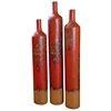 Pictured here are the handcrafted Tall Ceramic Floor Vases in our aged red, sold as a set of 3 - small, medium and large.