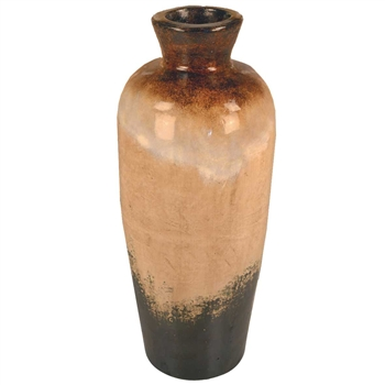Pictured here is the handcrafted Rutherford Small Ceramic Vase in our Sykes finish which measures 12 inches in diameter by 32 inches high.