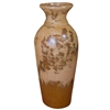 Pictured here is the handcrafted Bellagio Small Ceramic Vase in our Aged Cream finish which measures 14 inches in diameter by 33 inches high.