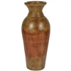 Pictured here is the handcrafted Bellagio Large Ceramic Vase in our Antique Orange finish which measures 14 inches in diameter by 42 inches high.