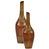 Pictured here is the Square Angle Stoneware Vases Set of 2 from Mathews and Company