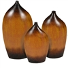 Pictured here is the Rock Island Stoneware Vases Set of 3  from Mathews and Company