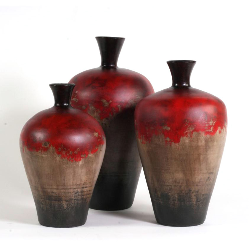 Cherry hill ceramic vases set of 3 moulin rouge for Mr price home christmas decor