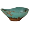Pictured here is the handcrafted Taos Large Ceramic Bowl in our Aged Turquoise finish which measures 19 inches long by 13 inches wide by 8 inches high.