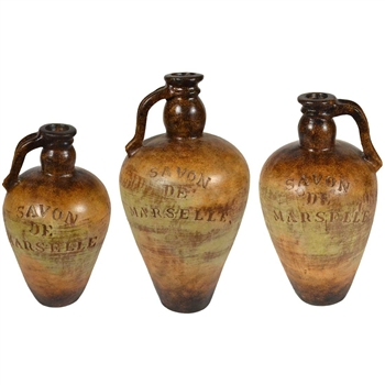 Pictured here is the Ceramic Towson Jugs Set of 3 from Mathews and Company