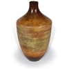 Pictured here is the handcrafted Ribbed Ceramic Vase in our Grand Canyon finish which measures 13 inches in diameter by 21 inches high.