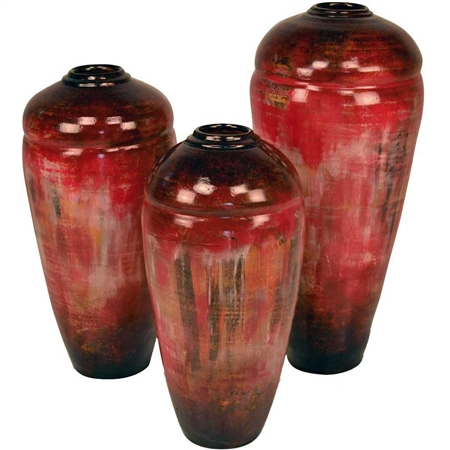 Pictured here is the Tucson Ceramic Vases Set of 3 from Mathews and Company