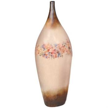 Pictured here is the handcrafted Desire Large Ceramic Vase in our Poppycock finish which measures 13 inches in diameter by 42 inches high.