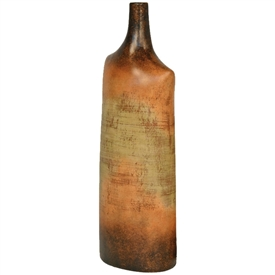Pictured here is the Tuscan Large Ceramic Bottle in our grand canyon finish.