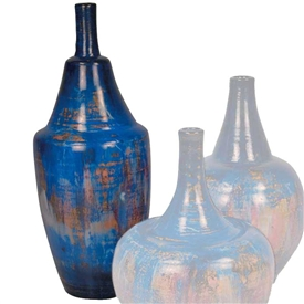 Pictured here is the handcrafted Large Bell Ceramic Urn in our Cobalt Blue finish which measures 9 inches in diameter by 23 inches high.