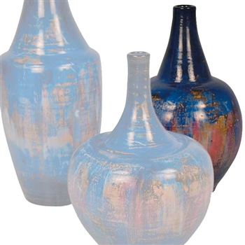 Pictured here is the handcrafted Medium Bell Ceramic Urn in our Cobalt Blue finish which measures 9 inches in diameter by 20 inches high.