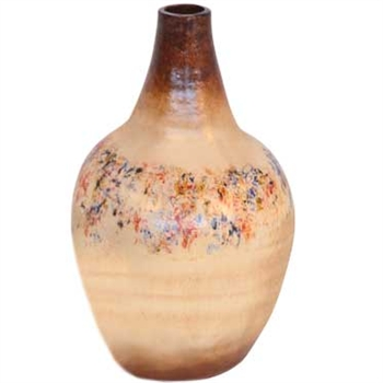 Pictured here is the handcrafted Medium Bell Ceramic Urn in our Poppycock finish which measures 9 inches in diameter by 20 inches high.