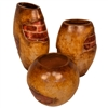 Pictured here is the handcrafted Backstreet Ceramic Vases, sold as a set of 3 - small, medium and large.