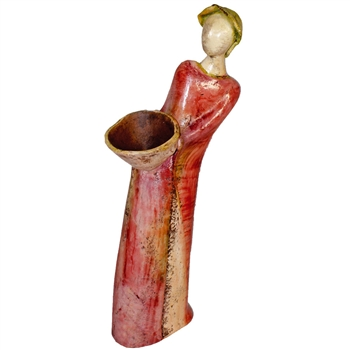 Pictured here is the handcrafted Prairie Girl Ceramic Sculpture which measures 7 inches long by 8 inches wide by 23 inches high.