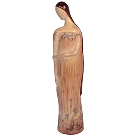 Pictured here is the handcrafted ceramic Lady Clair sculpture which measures 9 inches long by 7 inches wide by 39 inches high.