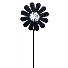 Wrought Iron Flower - Marble Garden Stake