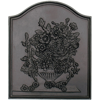 Pictured here is the Iron Bouquet Fireback that measures 17-inch x 20-inch