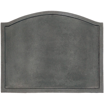 Pictured here is the Large Cast Iron Plain Design Fireback that measures 22-1/2-inch x 17-3/4-inch