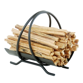Pictured here is the Colonial Fatwood Carrier which Includes 4 pounds of kindling
