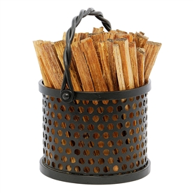 Pictured here is the Twisted Rope Fatwood Carrier which Includes 4 pounds of kindling