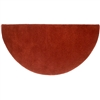 Pictured is the Minuteman Somerville Red Half Round Hearth Rug that measures 44-inch x 22-inch and meets CPSC Standard FF1-70 for flammability of carpets.