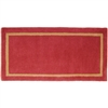 Pictured is the Minuteman Sangria Rectangular Hearth Rug that measures 44-inch x 22-inch and meets CPSC Standard FF1-70 for flammability of carpets.
